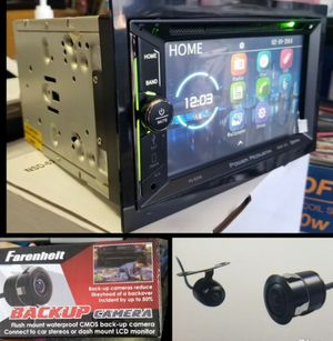 NEW POWER ACOUSTIK DOUBLE DIN WITH BLUETOOTH AND BACK UP CAMERA for Sale in East Los Angeles, CA