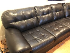 Dark Leather sectional for Sale in Denver, CO