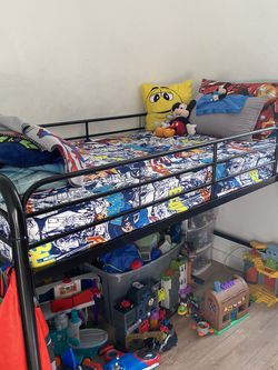 Twin Size Mattress And Bed With Ladder for Sale in Brooklyn,  NY