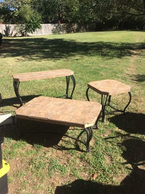 Granite / Stone coffee table, end table, and misc table $160 OBO for Sale in Lexington, KY