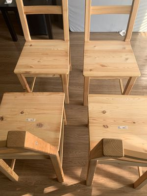 IKEA Wooden Chair set of 4 for Sale in Richardson, TX
