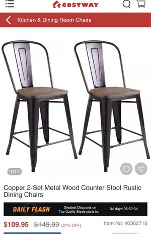 2 piece rustic chairs dining for Sale in Anaheim, CA