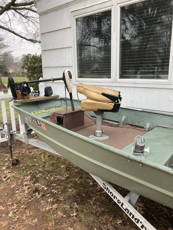 1436 Jon Boat With Trolling Motor And 9.8hp Nissan 2005