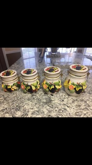 Fruit kitchen canister for Sale in Millington, TN