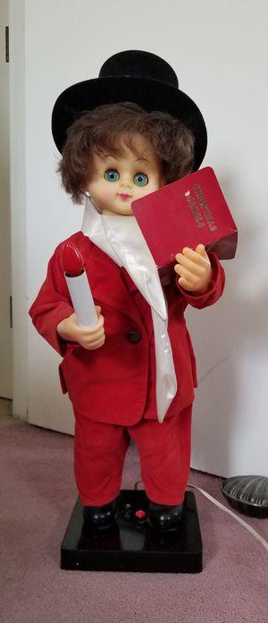 Vintage Motion-ette 26 inch Animated Christmas Caroler Boy for Sale in Sudbury, MA