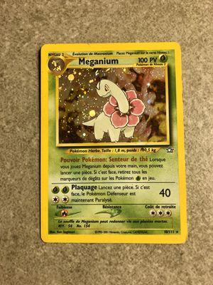 French Meganium 10/111 Neo Genesis Holo Pokemon Card for Sale in Dallas, GA