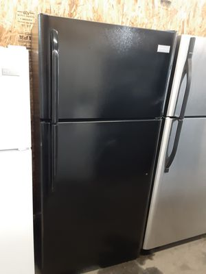 $299 Frigidaire black 18 cubic refrigerator apartment size includes delivery in the San Fernando Valley of warranty and installation for Sale in Los Angeles, CA