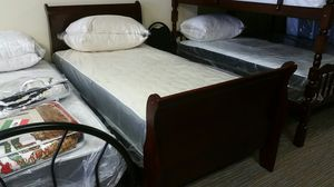 Very strong wood twin sleigh bed for Sale in Nashville, TN