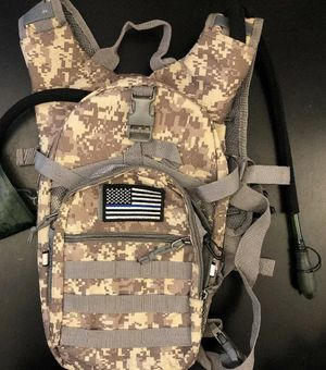 SHARKMOUTH Tactical MOLLE Hydration Pack Backpack (No Bladder) - Camouflage for Sale in Las Vegas, NV