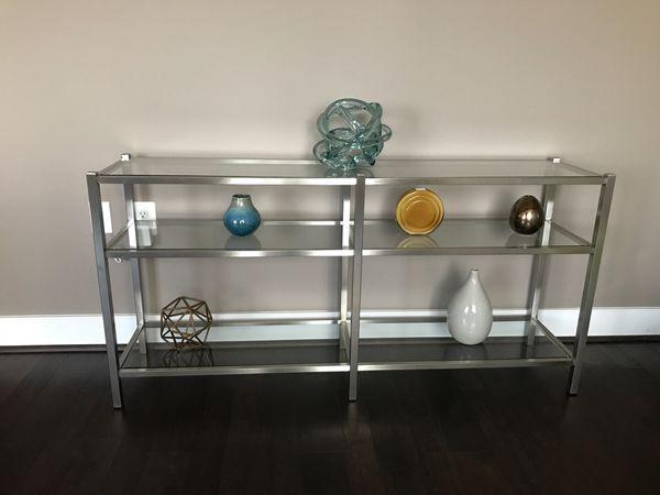 Room & Board bookshelf/media table