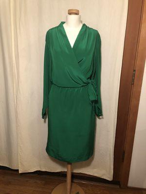 Diane Vin Furstenberg green wrap dress for Sale in Bainbridge Island, WA