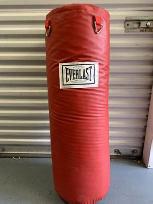 Everlast - 70lb leather Punching bag for Sale in Dallas, TX