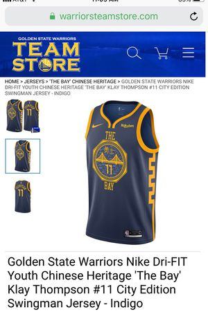 e528c3ead8ed Golden State Warriors Nike Dri-FIT Youth Chinese Heritage  The Bay  Klay  Thompson