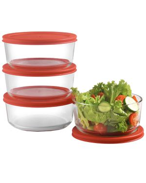 Set of 4 24 oz Glass Food Containers New for Sale in Robstown, TX