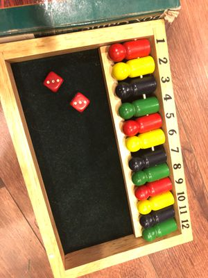New Shut the box wooden game - teaches numbers, addition. Gift. Toy. Drinking game for Sale in Buckeye, AZ