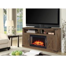 Muskoka Aberfoyle 48 in. Freestanding Electric Fireplace TV Stand in Rustic Brown for Sale in Umatilla,  FL