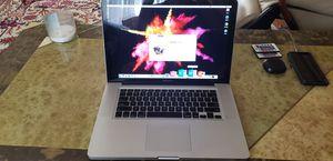 Monster Apple MacBook Pro 15, Intel i7, 16GB RAM, 256GB SSD Flash, new batt. $500 for Sale in St. Petersburg, FL