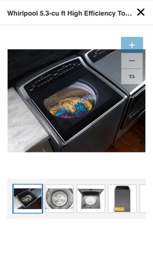 Whirlpool 5.3 cu ft High Efficiency Top Load Washer chrome Shadow smart touch for Sale in New York, NY