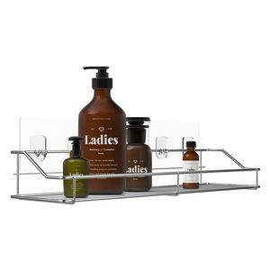 Bathroom Shelf Organizer Storage Kitchen Rack with Traceless Transparent Adhesive No Drilling SUS304 Stainless Steel for Sale in Hacienda Heights, CA