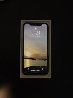 iPhone X 256GB Factory Unlocked. Original packaging and accessories never used. w/Free new case for Sale in Seattle, WA