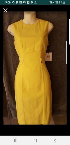 New Yellow Calvin Klein Dress-Size 2 for Sale in Houston, TX