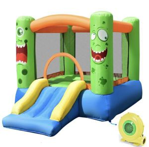 Kids Playing Inflatable Bounce House Jumping Castle Game Fun Slider 480W Blower for Sale in Ontario, CA