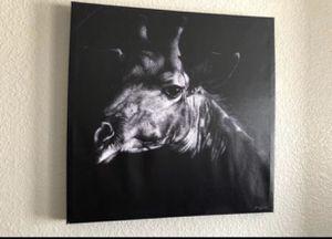 Medium size canvas giraffe picture for Sale in Palmdale, CA