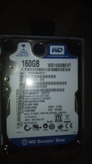 160gb laptop hdd sata for Sale in Bremerton, WA