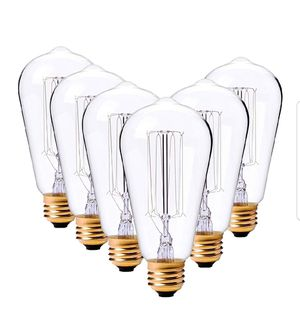 LDUSAHOME Vintage Edison Bulbs 60W Antique Classic Style Squirrel Cage Filament Incandescent Light Bulb E26 Base ST64 120V for Home for Sale in Bakersfield, CA