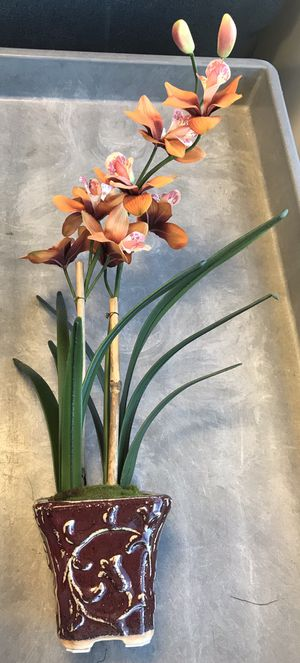 "22"" H Artificial Ceramic Potted Plant Orchid for Sale in Arlington, VA"