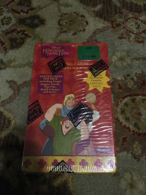 Disney hunchback of notre dame card box with figurine for Sale in San Antonio, TX