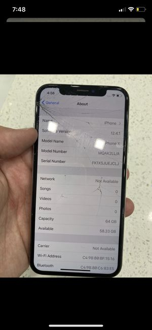 Locked iPhone X for Sale in Miami, FL