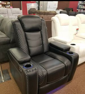 👑39 Down Payment👑Power Recliner Midnight Chair👉 in stock for Sale in Alexandria, VA