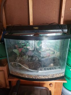 Fish tank w/ stand and decorations for Sale in Indianapolis,  IN