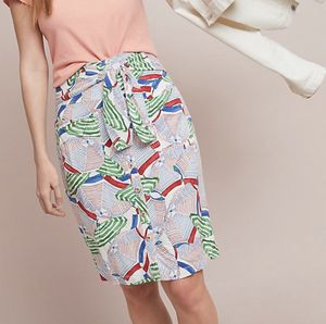 NWT anthropologie midi straight pencil skirt 2 petite women's colorful for Sale in Fenton, MO