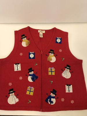 Ladies Snowman Christmas Sweater Vest for Sale in Arlington, TX