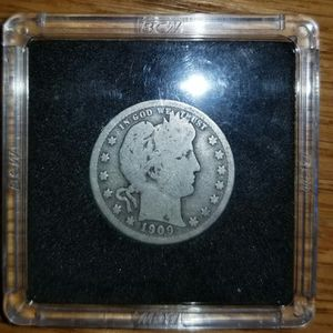 1909 Barber Quarter 111 Yrs Old 90% Silver for Sale in Tulare, CA
