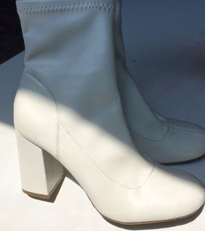 White Ankle Boots With Block Heels for Sale in Columbus, OH