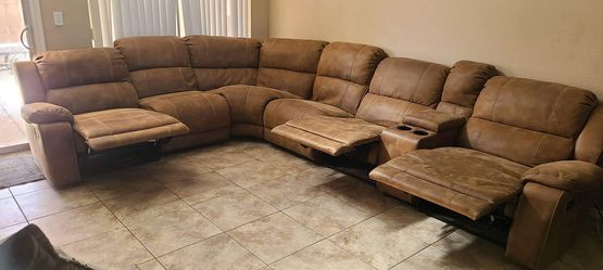 Light Brown Multiple Recliner Couch 900obo for Sale in Henderson,  NV