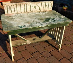 Primitive Rustic Potting Shed Table for Sale in Bally, PA