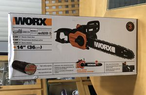 """Brand New WORX 14"""" 8 Amp Electric Chainsaw with Auto-Tension for Sale in Warren, MI"""