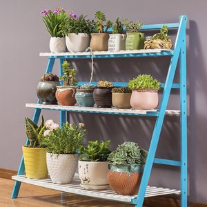 Plant Stand 3 Tier Wood Flower Display Shelf Pot Display Storage Rack for Indoor Outdoor Home Patio Lawn Garden Balcony Organizer Planter Holder for Sale in Buena Park, CA