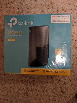 TP-LINK DOCSIS 3.0 Cable Modem, 343Mbps Download and 131Mbps Upload (TC-7610 ) for Sale in San Diego, CA
