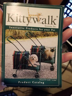 Selling original kittywalk stroller for small dogs or cats. Has one area of netting needed repaired .. everything else is great. $80 OBO for Sale in Tampa, FL
