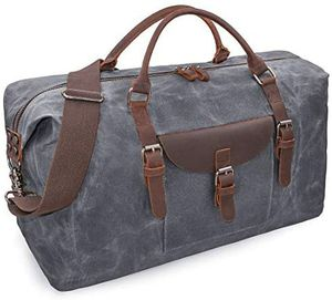 Oversized Travel Duffle Bag - Genuine Leather Gray! for Sale in Phoenix, AZ
