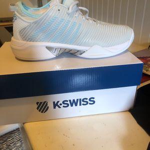 Brand New Kswiss Hypercourt Supreme Women's Size 8 Tennis Shoe White W Blue Trim for Sale in Alpharetta, GA