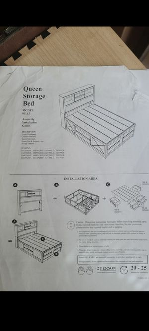 Queen Size Storage Bedframe for Sale in Columbus, OH