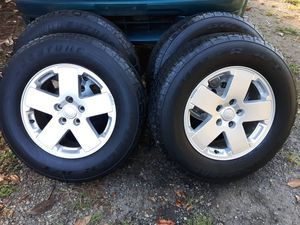 """18"""" Jeep wheels and tires, adapters included! for Sale in Crozet, VA"""