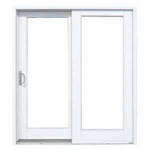 72 in. x 80 in. Smooth White Left-Hand Composite Sliding Patio Door for Sale in Woodbridge, VA