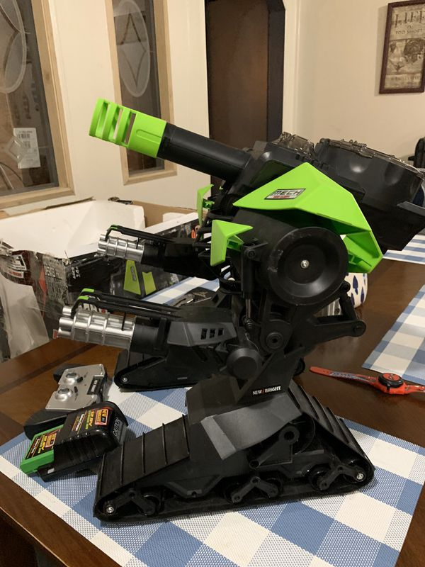 MECH Remote Control Robo Cannon in New Condition-Will Test it out so you can see it works Perfect-Comes with 3 cannon balls-Comes with rechargeable b